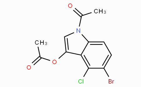 1-Acetyl-5-bromo-4-chloro-1H-indol-3-yl acetate