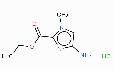 4-Amino-1-methyl-1H-imidazole-2-carboxylic acid-ethyl ester · HCl