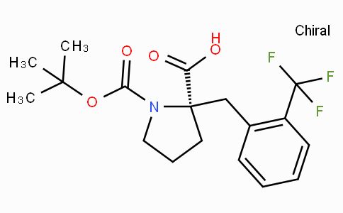 Boc-(R)-alpha-(2-trifluoromethyl-benzyl)-proline