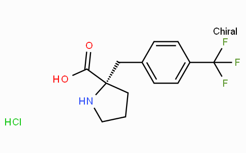 (S)-alpha-(4-trifluoromethyl-benzyl)-proline-HCl