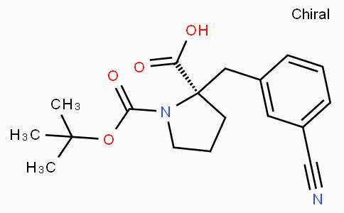 Boc-(R)-alpha-(3-cyano-benzyl)-proline