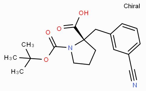 Boc-(S)-alpha-(3-cyano-benzyl)-proline