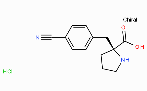 (S)-alpha-(4-cyano-benzyl)-proline-HCl