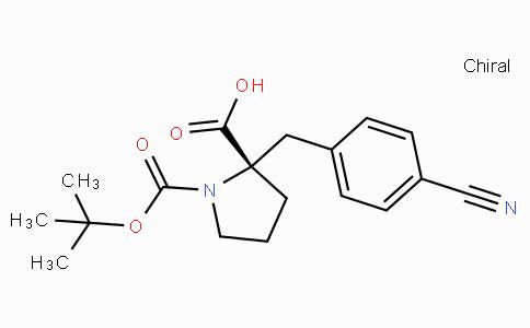 Boc-(S)-alpha-(4-cyano-benzyl)-proline