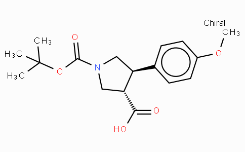 Boc-(+/-)-trans-4-(4-methoxy-phenyl)-pyrrolidine-3-carboxylic acid