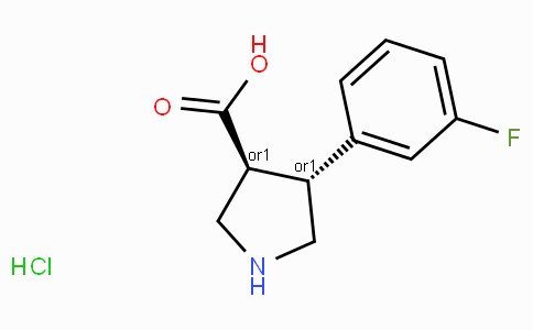 (+/-)-trans-4-(3-fluoro-phenyl)-pyrrolidine-3-carboxylic acid-HCl