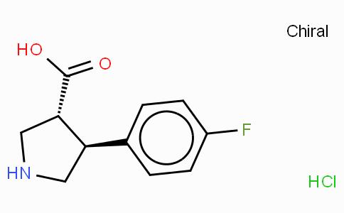 (+/-)-trans-4-(4-fluoro-phenyl)-pyrrolidine-3-carboxylic acid-HCl