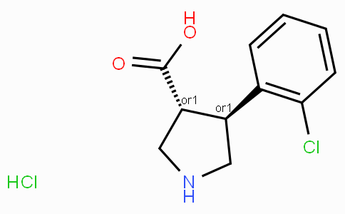 (+/-)-trans-4-(2-Chloro-phenyl)-pyrrolidine-3-carboxylic acid-HCl