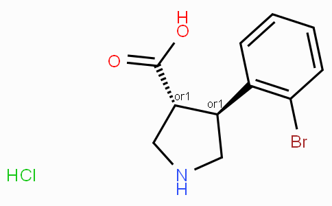 (+/-)-trans-4-(2-Bromo-phenyl)-pyrrolidine-3-carboxylic acid-HCl