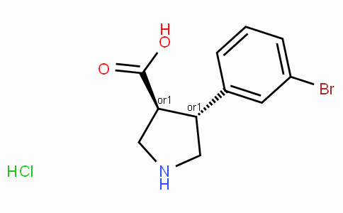 (+/-)-trans-4-(3-bromo-phenyl)-pyrrolidine-3-carboxylic acid-HCl