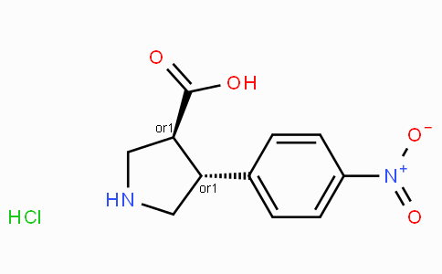 (+/-)-trans-4-(4-nitro-phenyl)-pyrrolidine-3-carboxylic acid-HCl