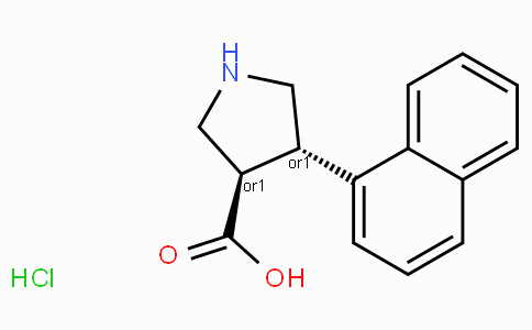 (+/-)-trans-4-(1-naphthyl)-pyrrolidine-3-carboxylic acid hydrochloride