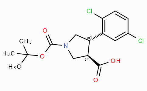 Boc-(+/-)-trans-4-(2,5-dichloro-phenyl)-pyrrolidine-3-carboxylic acid