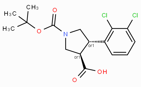 Boc-(+/-)-trans-4-(2,3-dichloro-phenyl)-pyrrolidine-3-carboxylic acid