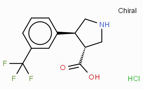 (+/-)-trans-4-(3-trifluoromethyl-phenyl)-pyrrolidine-3-carboxylic acid-HCl