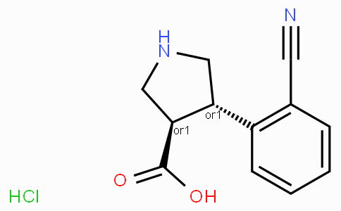 (+/-)-trans-4-(2-cyano-phenyl)-pyrrolidine-3-carboxylic acid-HCl