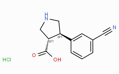 (+/-)-trans-4-(3-cyano-phenyl)-pyrrolidine-3-carboxylic acid-HCl