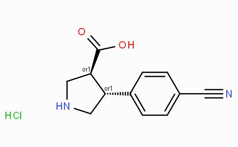 (+/-)-trans-4-(4-cyano-phenyl)-pyrrolidine-3-carboxylic acid-HCl