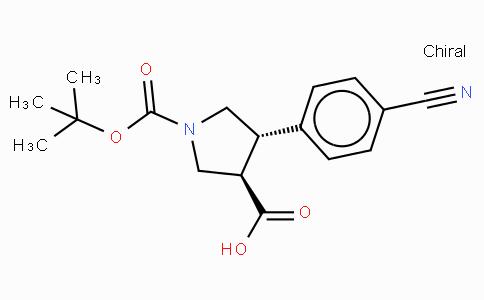 Boc-(+/-)-trans-4-(4-cyano-phenyl)-pyrrolidine-3-carboxylic acid