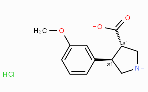 (+/-)-trans-4-(3-methoxy-phenyl)-pyrrolidine-3-carboxylic acid-HCl