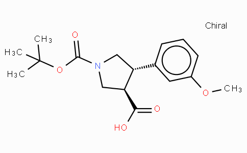Boc-(+/-)-trans-4-(3-methoxy-phenyl)-pyrrolidine-3-carboxylic acid