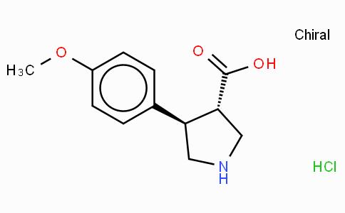 (+/-)-trans-4-(4-methoxy-phenyl)-pyrrolidine-3-carboxylic acid-HCl