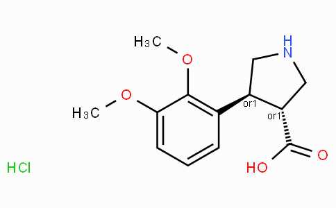 (+/-)-trans-4-(2,3-dimethoxy-phenyl)-pyrrolidine-3-carboxylic acid-HCl