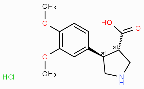 (+/-)-trans-4-(3,4-dimethoxy-phenyl)-pyrrolidine-3-carboxylic acid-HCl