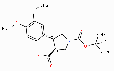 Boc-(+/-)-trans-4-(3,4-dimethoxy-phenyl)-pyrrolidine-3-carboxylic acid