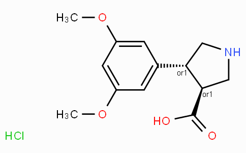 (+/-)-trans-4-(3,5-dimethoxy-phenyl)-pyrrolidine-3-carboxylic acid-HCl
