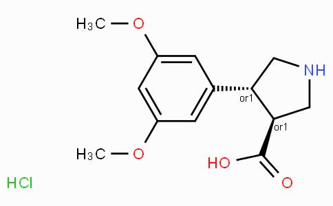 (+/-)-trans-4-(3,5-dimethoxy-phenyl)-pyrrolidine-3-carboxylic acid-HCl