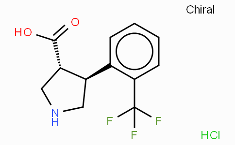 (+/-)-trans-4-(2-trifluoromethyl-phenyl)-pyrrolidine-3-carboxylic acid-HCl