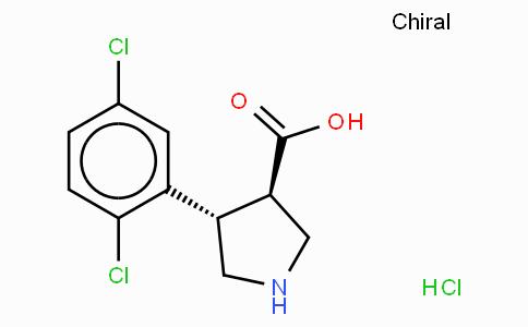 (+/-)-trans-4-(2,5-dichloro-phenyl)-pyrrolidine-3-carboxylic acid-HCl