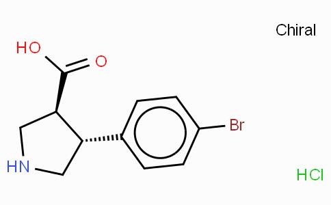 (+/-)-trans-4-(4-bromo-phenyl)-pyrrolidine-3-carboxylic acid-HCl