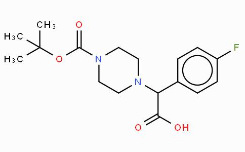 2-(4-Boc-piperazinyl)-2-(4-fluoro-phenyl)-acetic acid