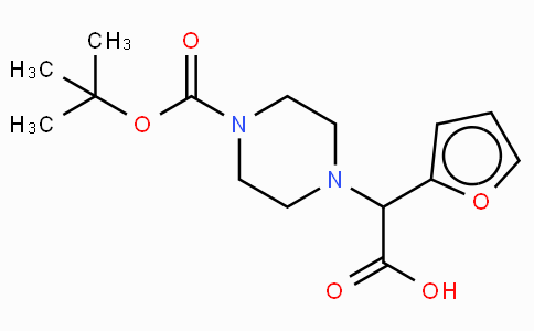 2-(4-Boc-piperazinyl)-2-(2-furanyl)acetic acid