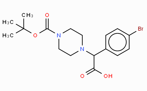 2-(4-Boc-piperazinyl)-2-(4-bromo-phenyl)acetic acid