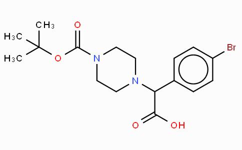 2-(4-Boc-piperazinyl)-2-(4-bromo-phenyl)acetic acid