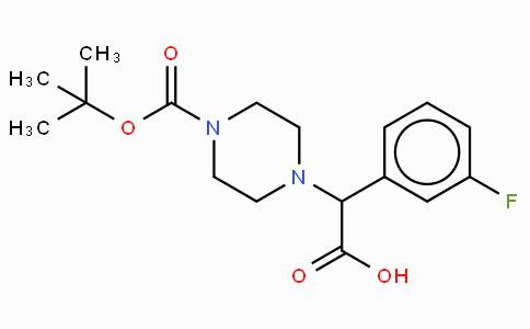 2-(4-Boc-piperazinyl)-2-(3-fluoro-phenyl)-acetic acid