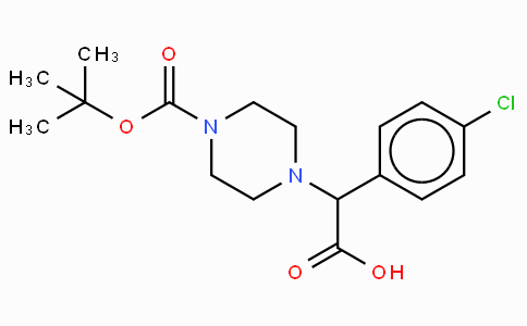 2-(4-Boc-piperazinyl)-2-(4-chloro-phenyl)acetic acid