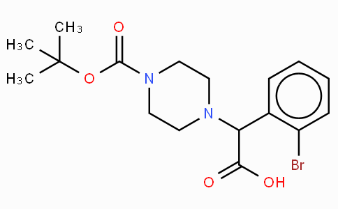 2-(4-Boc-piperazinyl)-2-(2-bromo-phenyl)acetic acid