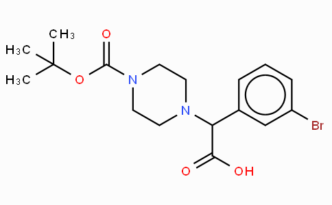 2-(4-Boc-piperazinyl)-2-(3-bromo-phenyl)-acetic acid