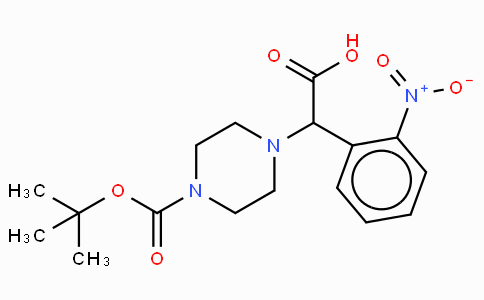 2-(4-Boc-piperazinyl)-2-(2-nitro-phenyl)acetic acid