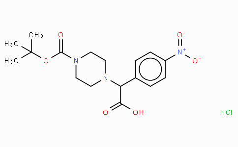 2-(4-Boc-piperazinyl)-2-(4-nitro-phenyl)acetic acid