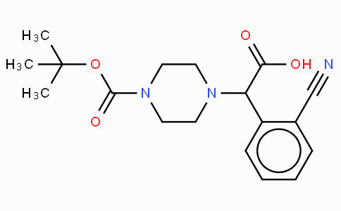 2-(4-Boc-piperazinyl)-2-(2-cyano-phenyl)acetic acid