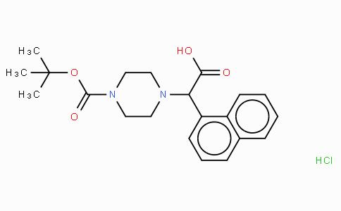 2-(4-Boc-piperazinyl)-2-(1-naphthalenyl)acetic acid