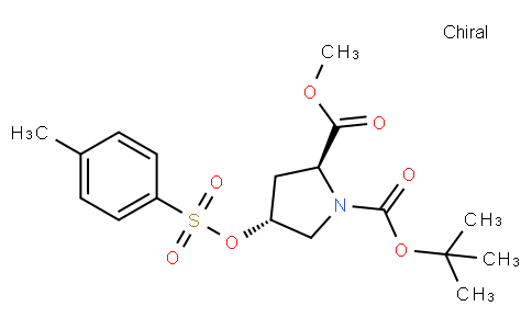 N-Boc-trans-4-tosyloxy-L-proline methyl ester