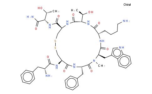 (D-Phe,Cys·11,N-Me-D-Trp)-Somatostatin-14 (5-12) amide