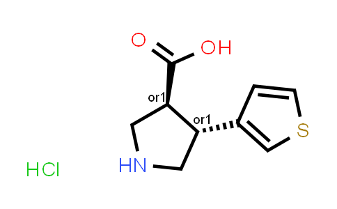 (+/-)-trans-4-(3-Thienyl)pyrrolidine-3-carboxylic acid hydrochloride