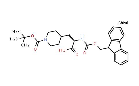(2R)-3-{1-[(tert-butoxy)carbonyl]piperidin-4-yl}-2-({[(9H-fluoren-9-yl)methoxy]carbonyl}amino)propanoic acid